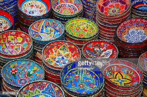 Turco cerámica : Foto de stock