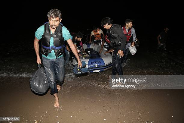 Turkish Coast Guard rescue 12 Pakistani migrants whose boat sank off Akyarlar Coast in Bodrum district of Mugla as they were trying to reach Greece's...