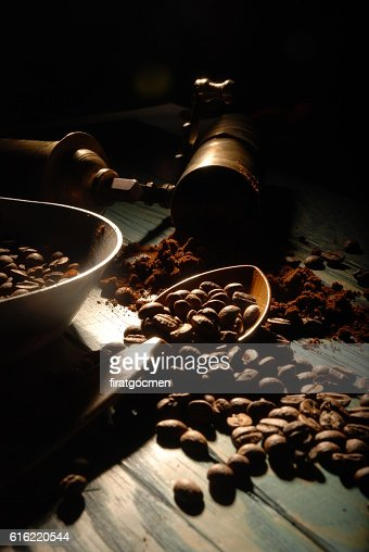 Turkish coffee and girinder : Foto stock