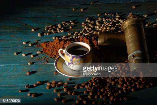 Turkish coffee and girinder : Photo
