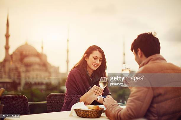 Turkish Couple in Cafe