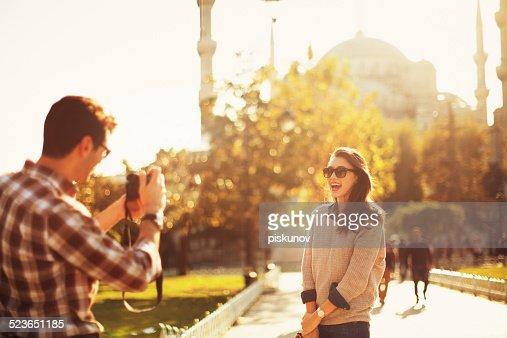 Turkish Couple Taking Photos