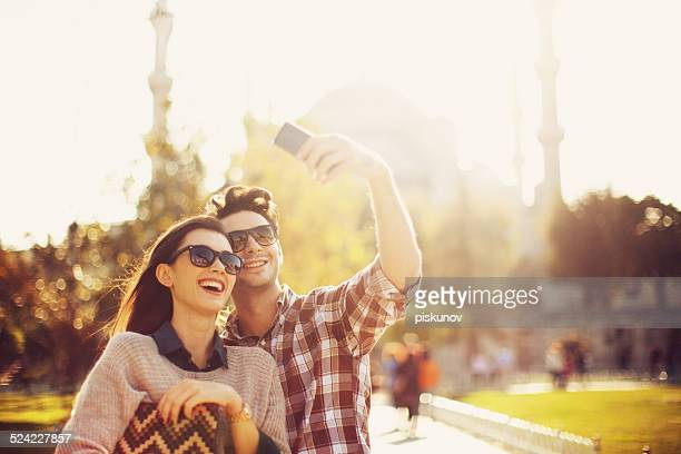 Turkish Couple Taking Selfie