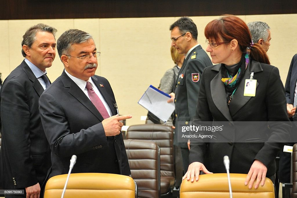 Turkish Defence Minister Ismet Yilmaz (left 2) attends the anti-Daesh coalition conference at NATO headquarters in Brussels, Belgium on February 11, 2016. The counter-Deash defense ministers conference, in Brussels, comprises 27 nations, including the United States, that provide force contributions to the counter-Daesh campaign.