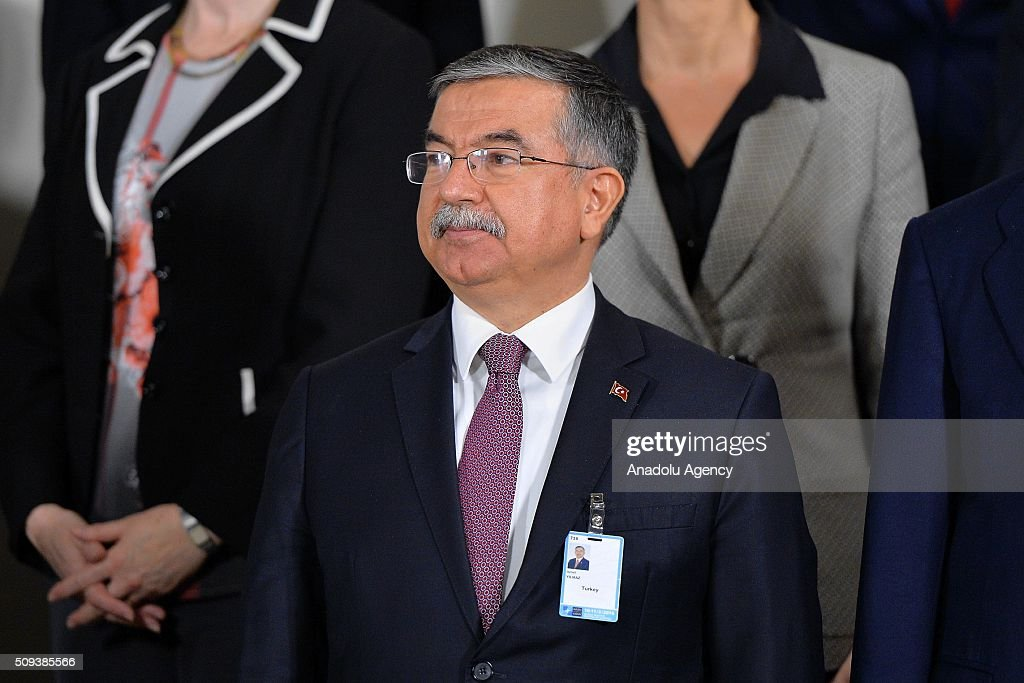 Turkish Defense Minister Ismet Yilmaz attends the NATO Defense Ministers meeting at the NATO headquarters in Brussels, Belgium on February 10, 2016.