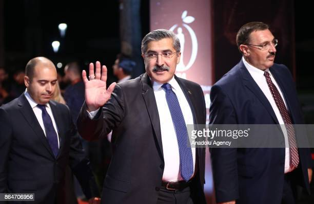 Turkish Deputy Culture and Tourism Minister Huseyin Yayman arrives to attend the 54 International Antalya Film Festival in Antalya Turkey on October...