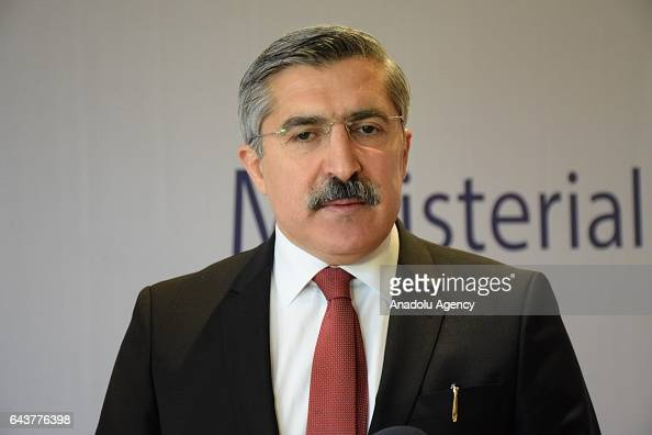 Turkish Deputy Minister of Culture and Tourism Huseyin Yayman attends the third Ministerial Conference of the Council of Ministers of Culture of...