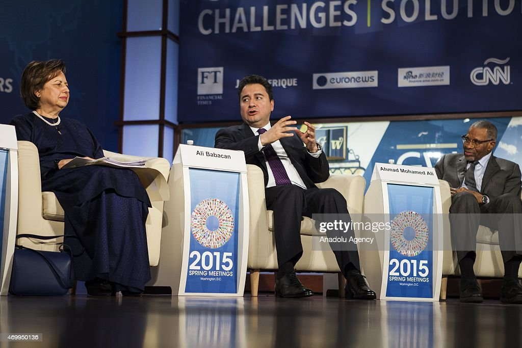 Turkish Deputy Prime Minister Ali Babacan participates in a panel debate on Islamic Finance with Ahmad Mohamed Ali and Zeti Aziz during the...