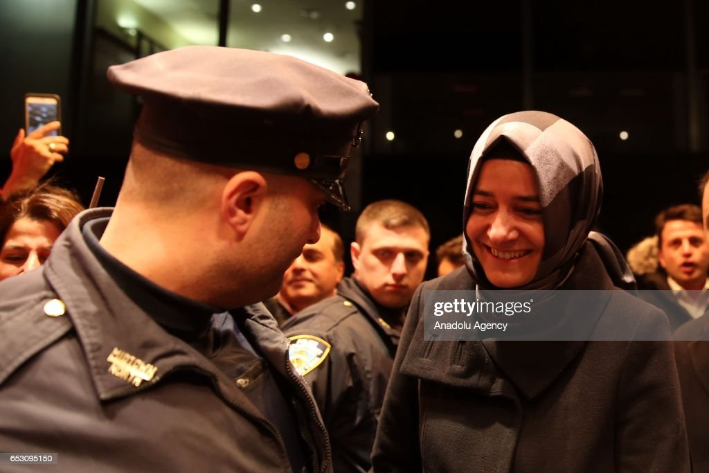 Turkish Family Minister Fatma Betul Sayan Kaya arrives to New York City