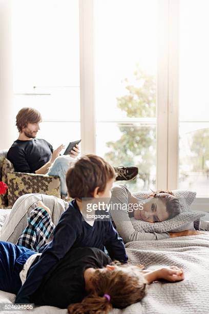 Turkish family on a weekend morning