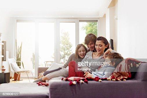 Turkish family taking selfie