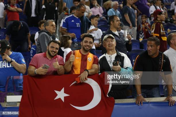 Turkish fans attend International Champions Cup 2017 friendly match between AS Roma and Tottenham Hotspur at Redbull Arena Stadium in Harrison New...