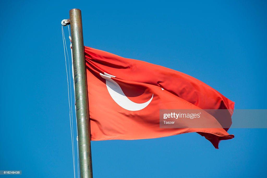 Turkish flag : Stock Photo