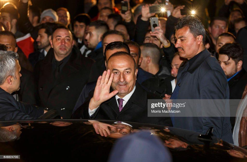 Turkish Foreign Minister Cavusoglu Speaks In Hamburg