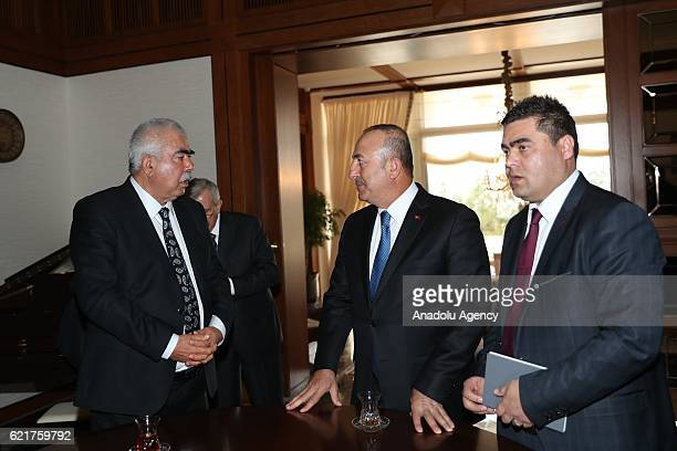 Turkish Foreign Minister Mevlut Cavusoglu meets Vice President of Afghanistan Abdul Rashid Dostum in Ankara Turkey on November 8 2016