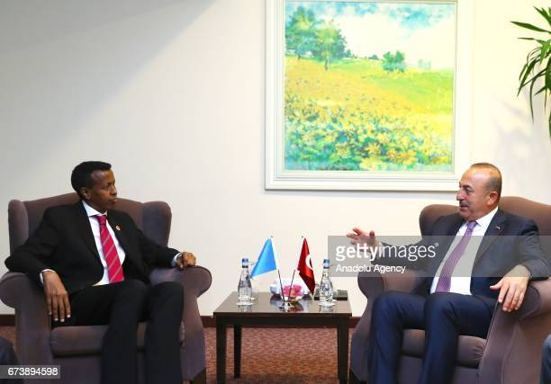 Turkish Foreign Minister Mevlut Cavusoglu meets with Somalian Foreign Minister Yusuf Garaad Omar before TurkeyAfrica First Agriculture Ministers...