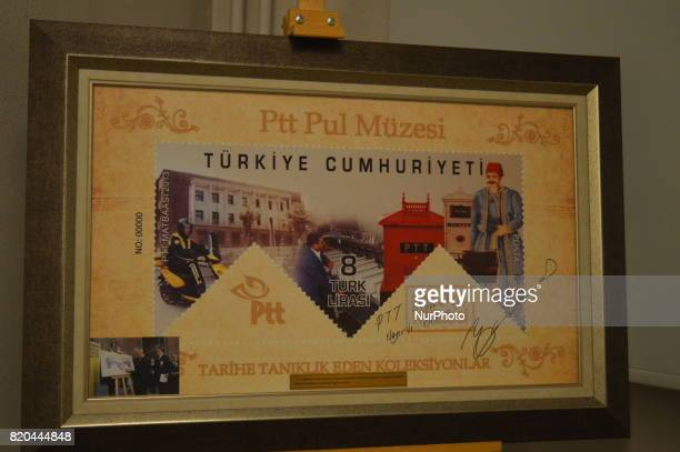 A Turkish historic post is seen at the PTT Stamp Museum in Ankara Turkey on July 21 2017