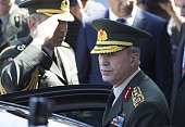 Turkish Interior Minister Efkan Ala Chief of the General Staff of the Turkish Armed Forces Hulusi Akar visit the Turkish National Police Headquarters...