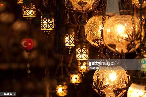 turkish lamps in grand bazaar istanbul turkiye
