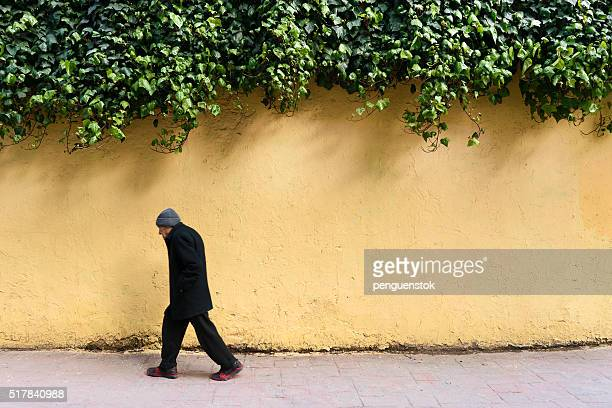 Turkish  man walking in cihangir street,İstanbul