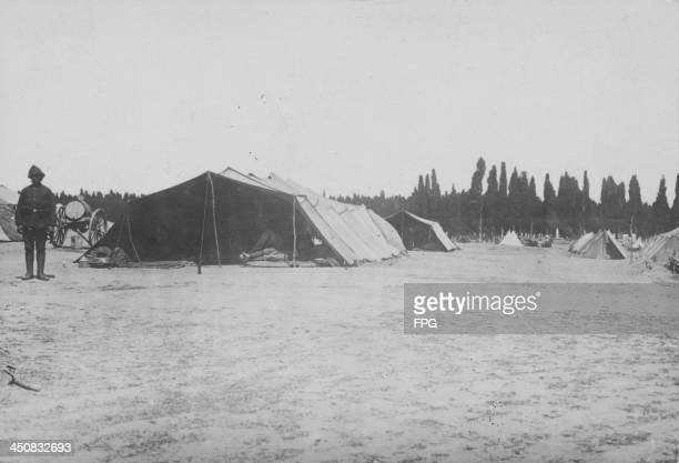 A Turkish military base camp in Gallipoli during World War One Turkey circa 19151916