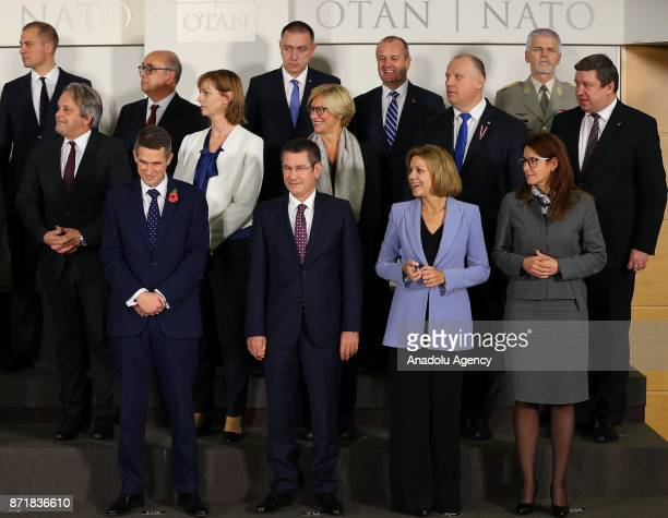 Turkish Minister of Defense Nurettin Canikli Spanish Minister of Defense Maria Dolores de Cospedal Italian Defense Minister Roberta Pinotti and...