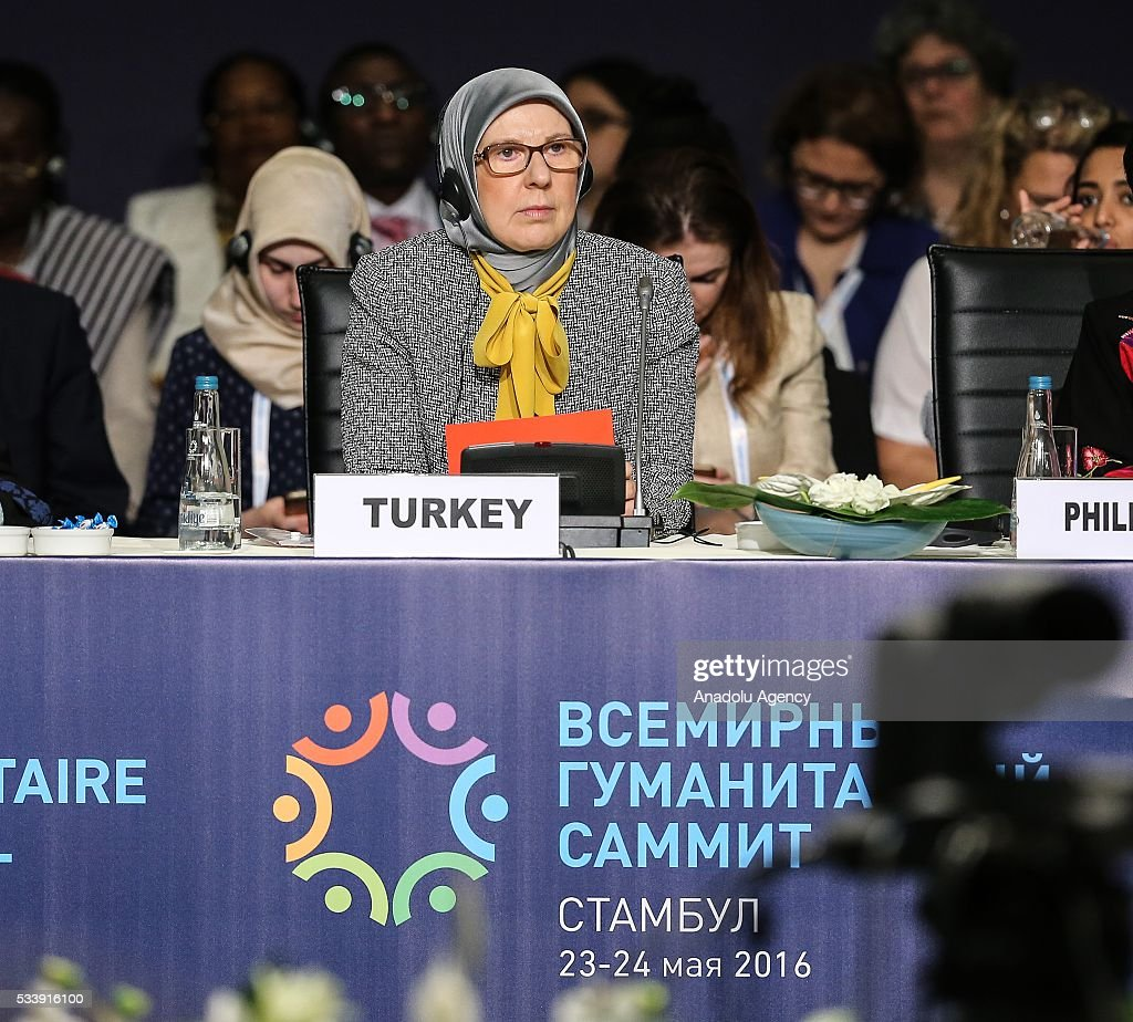 Turkish Minister of Family and Social Policy Sema Ramazanoglu attends a session, held within World Humanitarian Summit at Lutfi Kirdar Congress Center in Istanbul, Turkey on May 24, 2016.