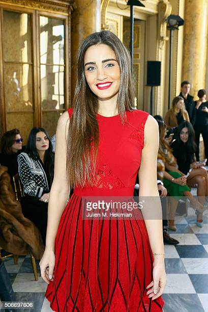 Turkish model Cansu Dere attends the Georges Hobeika Haute Couture show Spring/Summer 2016 Fashion Show as part of Paris Fashion Week at Monnaie de...