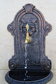 Turkish ottoman style faucet close up image
