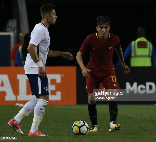 Turkish Player Cengiz Under of AS Roma in action during a friendly match between AS Roma and Tottenham Hotspur within International Champions Cup...