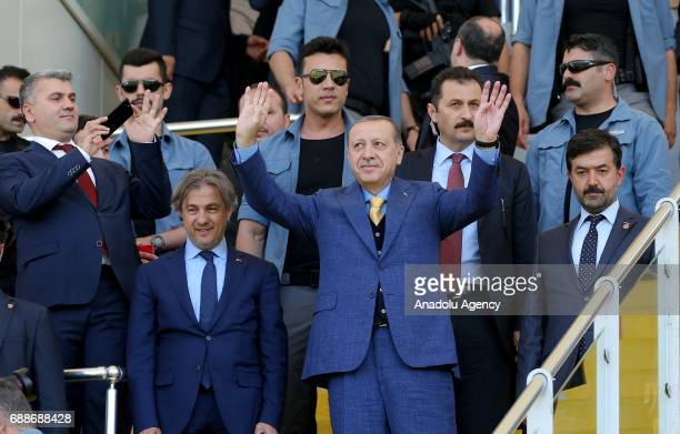Turkish President Recep Tayyip Erdogan attends a graduation ceremony of ImamHatip Graduates and Members Association at the Recep Tayyip Erdogan...