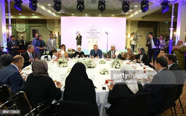 Turkish President Recep Tayyip Erdogan attends fastbreaking program with martyrs' relatives in Istanbul Turkey on May 27 2017