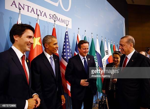Turkish President Recep Tayyip Erdogan Canadian Prime Minister Justin Trudeau US President Barack Obama and British Prime Minister David Cameron...