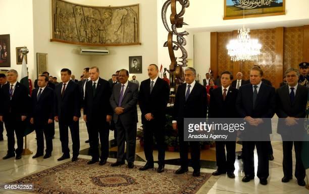 Turkish President Recep Tayyip Erdogan meets President of Pakistan of Pakistan Mamnoon Hussain Prime Minister of Pakistan Nawaz Sharif Azerbaijani...