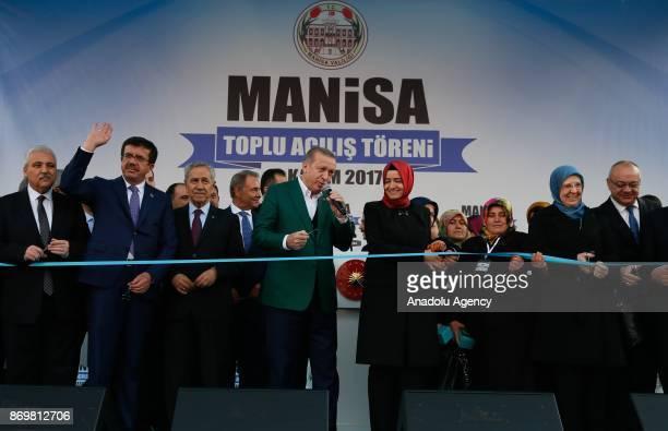 Turkish President Recep Tayyip Erdogan Minister of Economy of Turkey Nihat Zeybekci Turkish Energy and Natural Resources Minister Berat Albayrak...