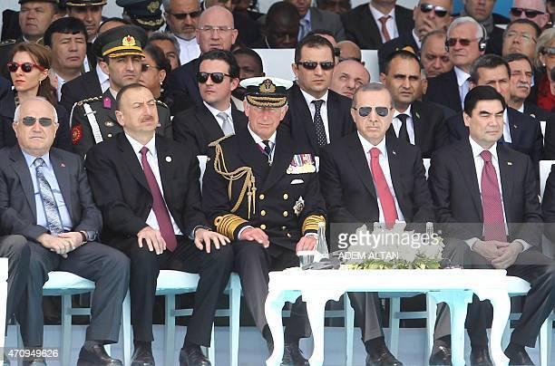 Turkish president Recep Tayyip Erdogan President of Turkmenistan Gurbanguly Berdimuhamedow Britain's Prince Charles the Prince of Wales and...