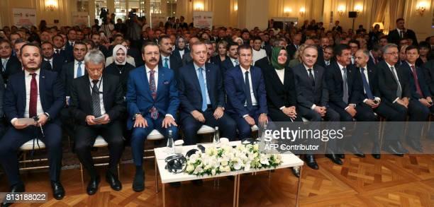 Turkish President Recep Tayyip Erdogan Turkish Deputy Prime Minister Nurettin Canikli Turkish Economy Minister Nihat Zeybekci Turkish Family Minister...