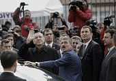 Turkish President Tayyip Erdogan waves as he leaves after voting at a polling station on November 1 in Istanbul Turkey Polls have opened in Turkey's...