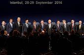 Turkish Prime Minister Ahmet Davutoglu and Founder and Executive Chairman World Economic Forum Klaus Schwab Turkish Minister of European Union...