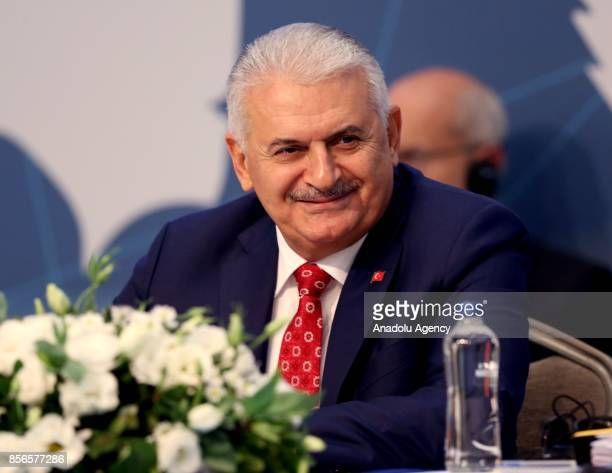 Turkish Prime Minister Binali Yildirim attends the 10th European Regional meeting of International Labour Organization at Hilton Bomonti Hotel in...