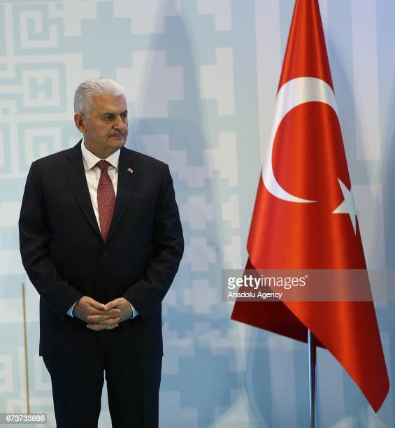 Turkish Prime Minister Binali Yildirim attends the TurkeyAfrica First Agriculture Ministers Meeting and Agribusiness Forum at Maritim Pine Beach...