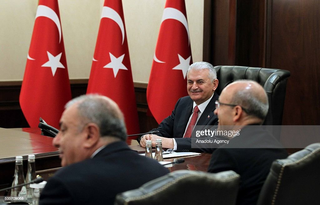 Turkish Prime Minister Binali Yildirim (C) chairs the Cabinet Meeting of Turkey in Ankara, Turkey on May 30, 2016.