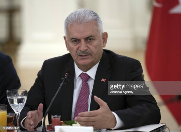 Turkish Prime Minister Binali Yildirim meets with German executives invested in Turkey in wake of German governments realignment of TurkeyGermany...