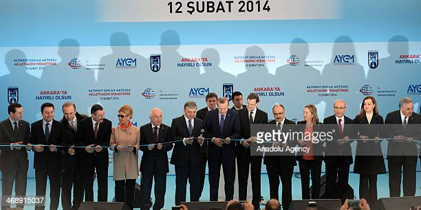 Turkish Prime Minister Recep Tayip Erdogan Turkish President Abdullah Gul Spain Prime Minister Mariano Rajoy and other Turkish ministers attend the...