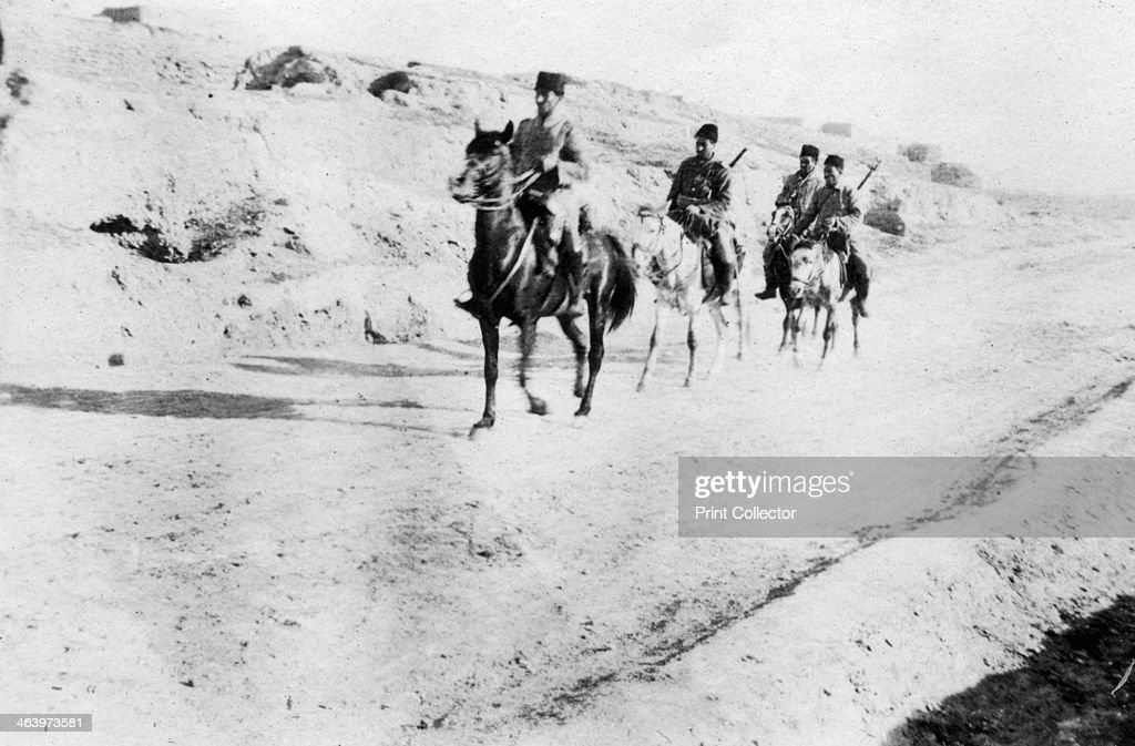 Turkish soldiers leaving Mosul Mesopotamia WWI 1918 Mesopotamia formerly part of the Turkish Ottoman empire was under British military control from...