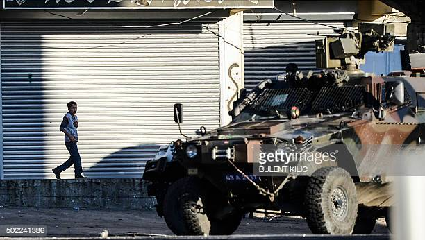 Turkish special forces shoot with machine gun in Sirnak on December 22 2015 during security operations against Kurdish rebels in the southeastern...