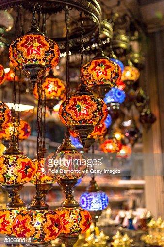 turkish style lighting. turkish style lamps mosaic ottoman chandeliers stock photo lighting n