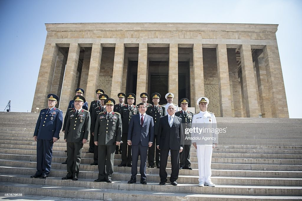 Turkish Supreme Military Council Members Visit Antkabir