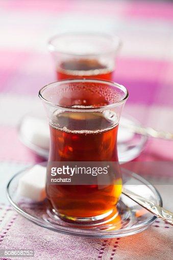 Turkish tea : Stock Photo
