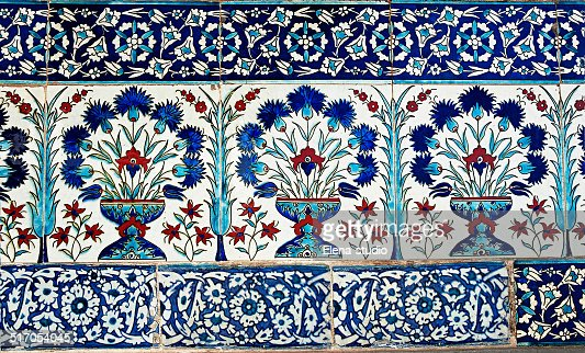 Turkish Design turkish tile design in topkapi palace istanbul turkey stock photo